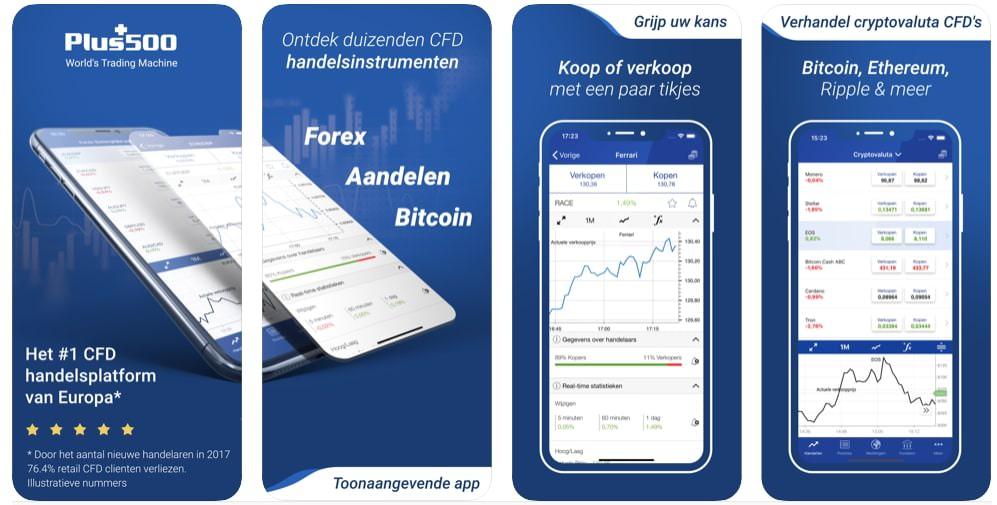 Plus500 Beleggingsapp   Mobiel Beleggen app   Aandelen app   Beurs app