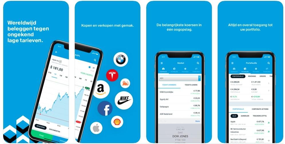 DEGIRO Mobiel Beleggen app   Aandelen app   Beleggingsapp   Beurs app