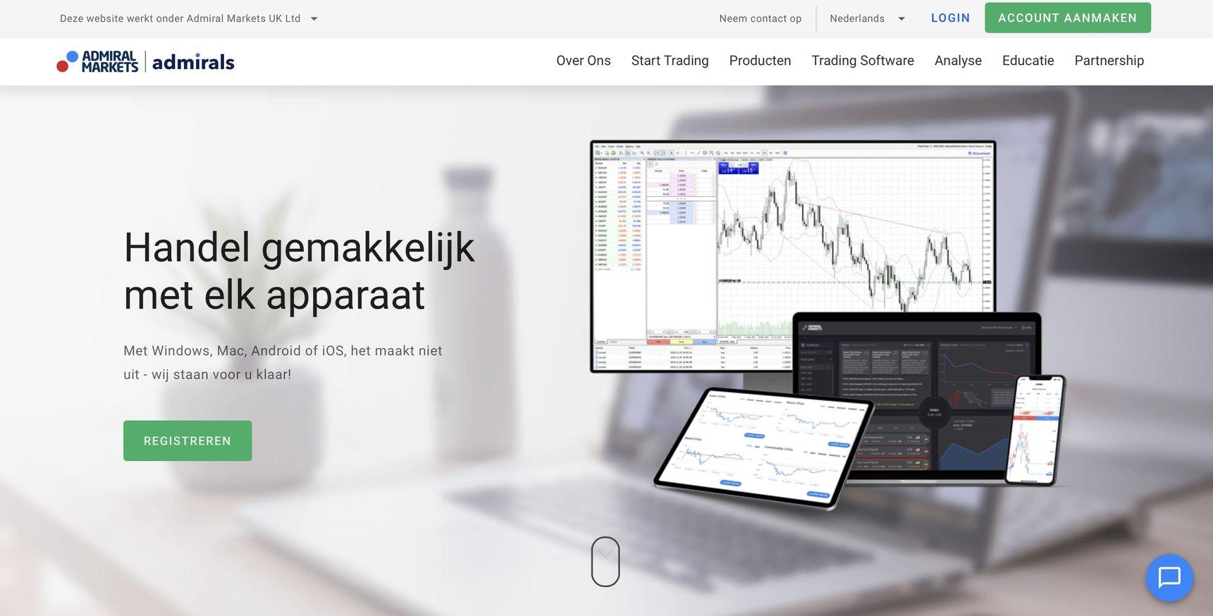 Online brokers vergelijken, beste brokers, admirals