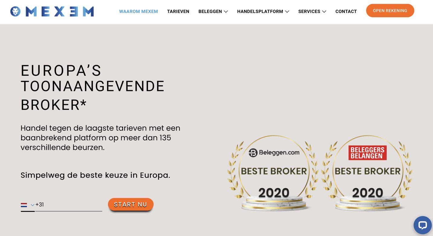 Beste brokers vergelijken, online brokers, goedkoopste broker nederland, mexem beleggingsrekening
