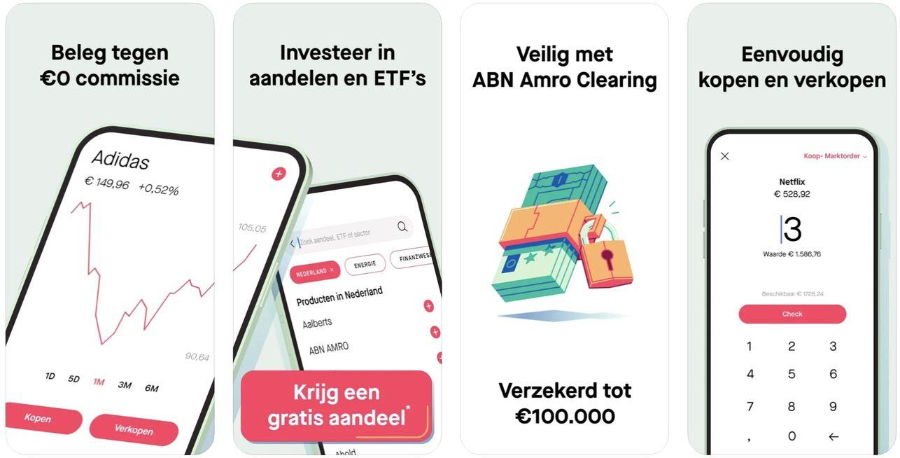 Beste aandelen app voor beginners, beste beleggingsapp voor beginners, mobiel beleggen app, Bux Zero app